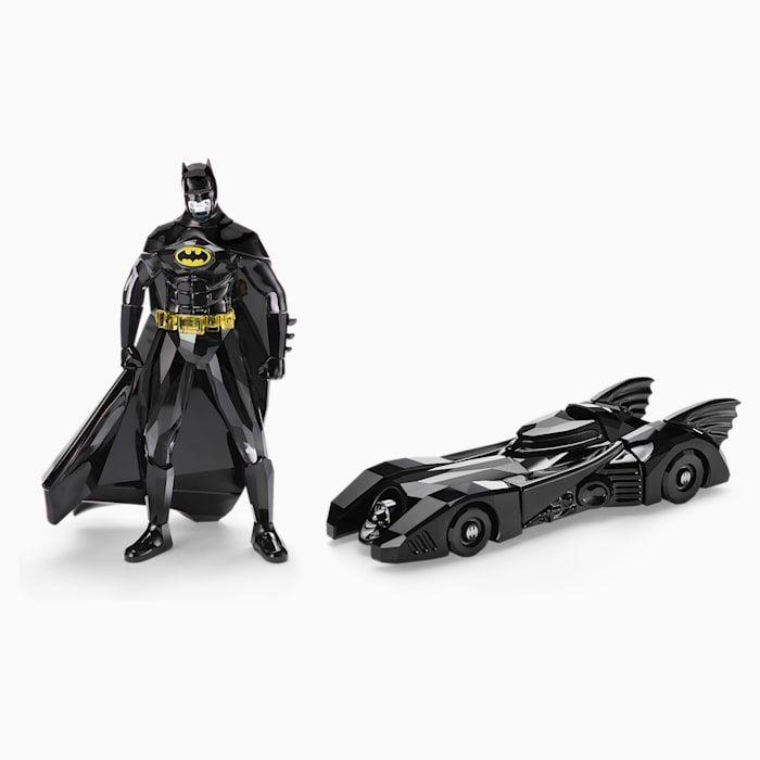 Miniatur batman dan batmobile berbalut kristal swarovski