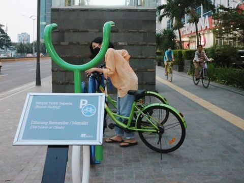 Program sepedaberbagi, pinjam gratis sepeda di Jakarta Pusat