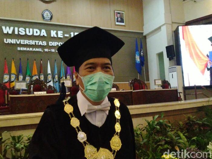Rektor Undip, Prof Yos Johan Utama, Semarang, Selasa (16/6/2020).