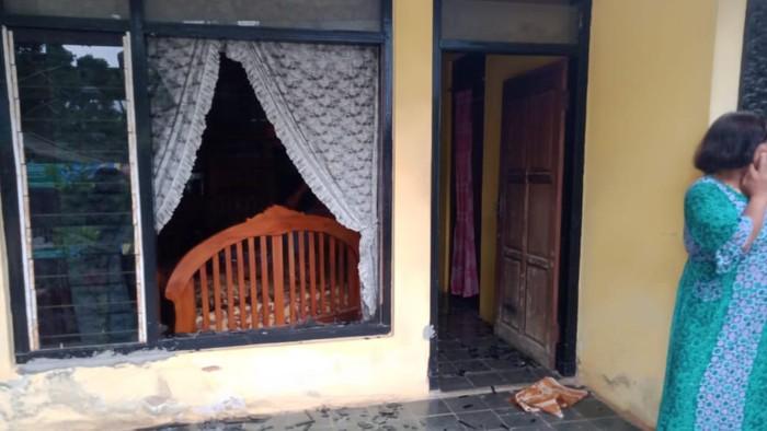 babi hutan rusak rumah warga di pangandaran
