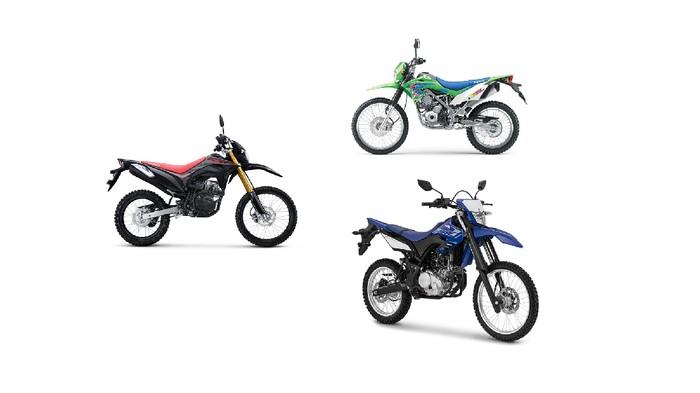 Honda CRF150L, Kawasaki KLX150L, dan Yamaha WR 155R