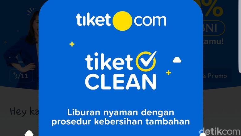 Screenshot aplikasi tiket.com