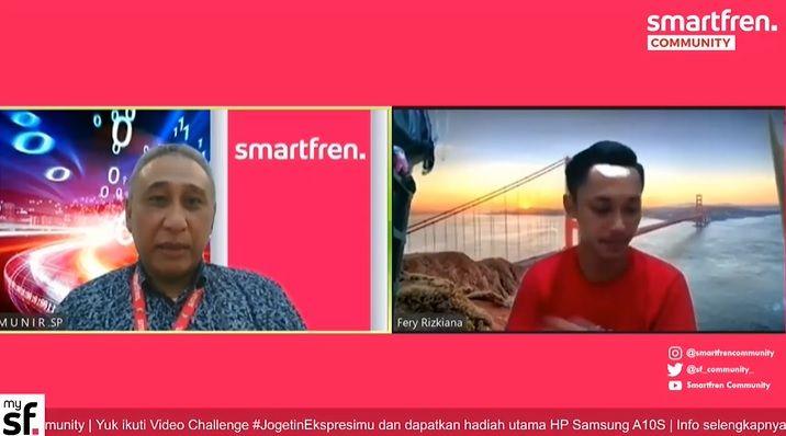 Acara virtual Techtalk Smartfren Community.