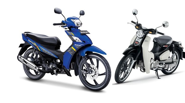 Suzuki Smash dan Honda Super Cub C125