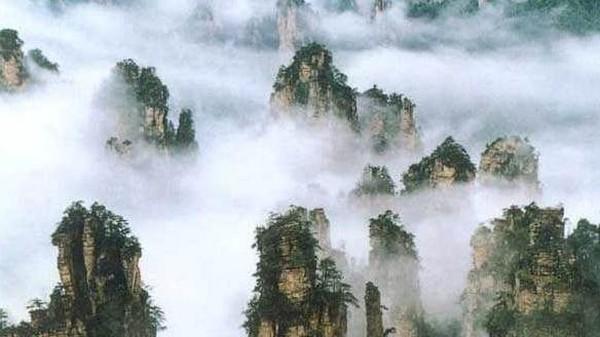 Bukit-bukit batu lancip yang dihias pepohonan hijau jadi sajian utama yang paling dicari para wisatawan. Terlebih saat kabut turun dan menyelimuti area hutan sehingga membuat beberapa bukit yang sangat menjulang berada di atas kabut. Istimewa/iStock