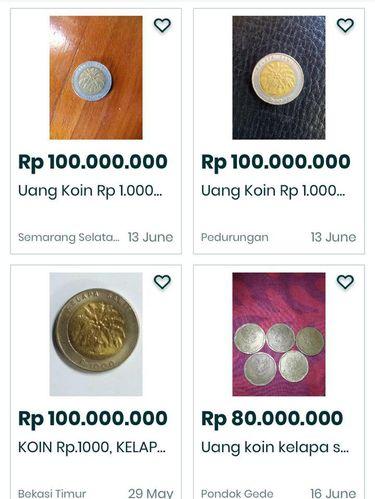 tangkapan layar uang Rp 1.000 kelapa sawit