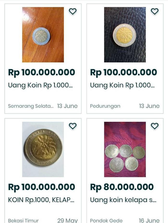 Bi Buka Suara Soal Koin Rp 1 000 Kelapa Sawit Yang Dijual Ratusan Juta