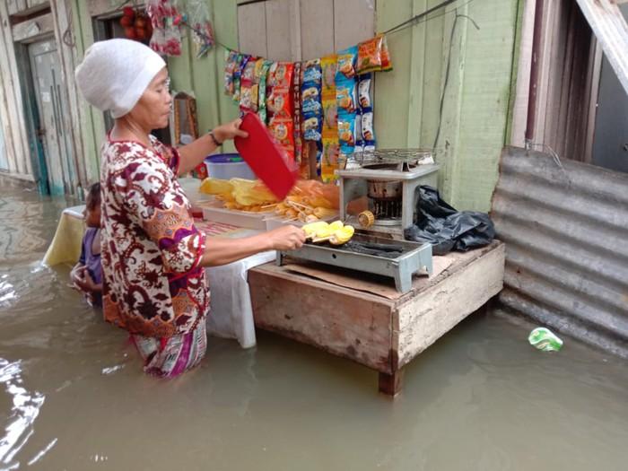 Banjir di Medan Maimun (Ahmad Arfah-detikcom)
