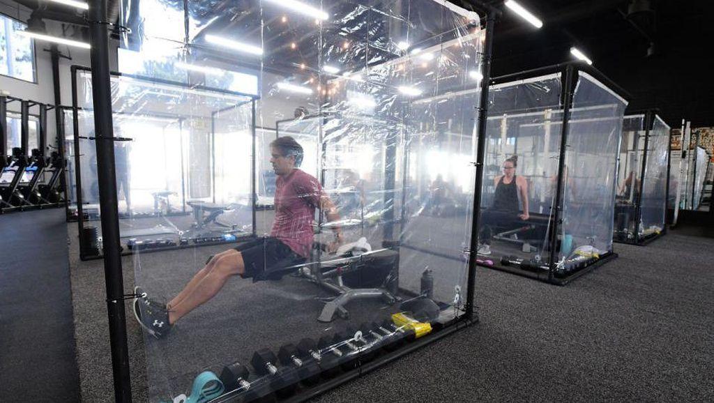 Gym di California Bikin Bilik Khusus Untuk Jaga Jarak