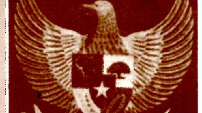 Lambang Negara Indonesia Hasil Rancangan Sultan Hamid II, diajukan 10 Februari 1950. (Sistem Registrasi Nasional Cagar Budaya Kemdikbud)