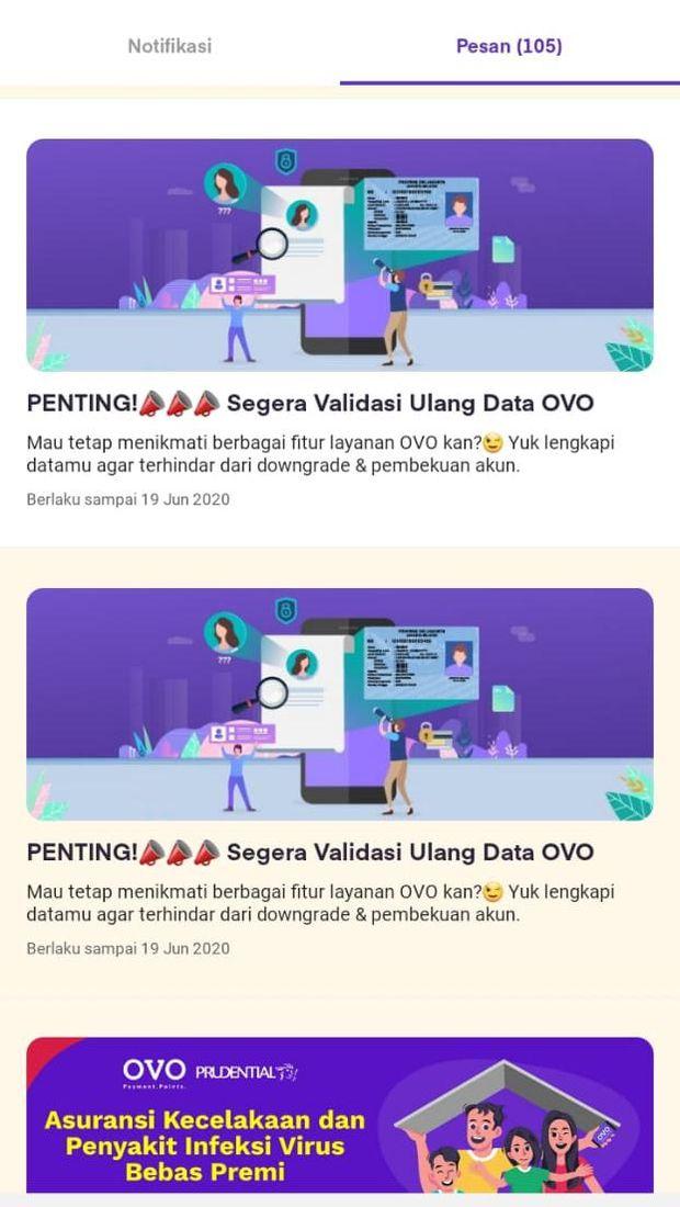 Pengguna OVO Diminta Validasi Data Ulang