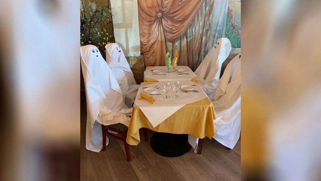 Hii! Restoran Ini Pakai Hantu untuk Promosikan Social Distancing