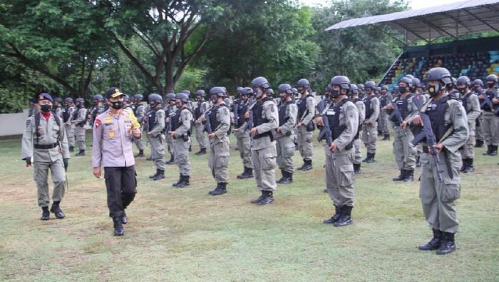 196 Personel Brimob Polda Aceh Dikirim ke Papua untuk Amankan Freeport (Foto: Agus/detikcom)
