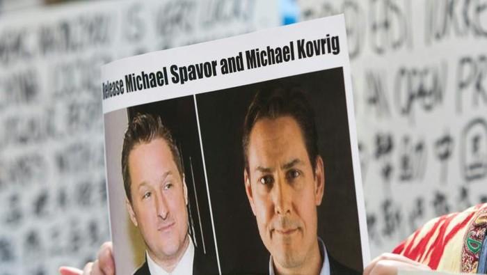 Dua warga Kanada, Michael Kovrig dan Michael Spavor didakwa atas kasus spionase oleh China (AFP Photo)