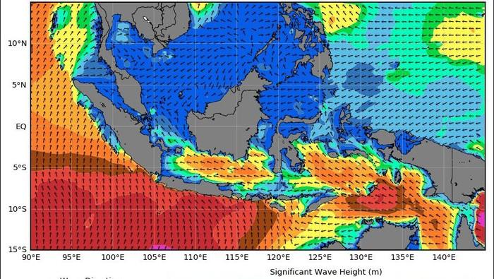 Gelombang tinggi diprediksi akan terjadi di pesisir pulau Jawa