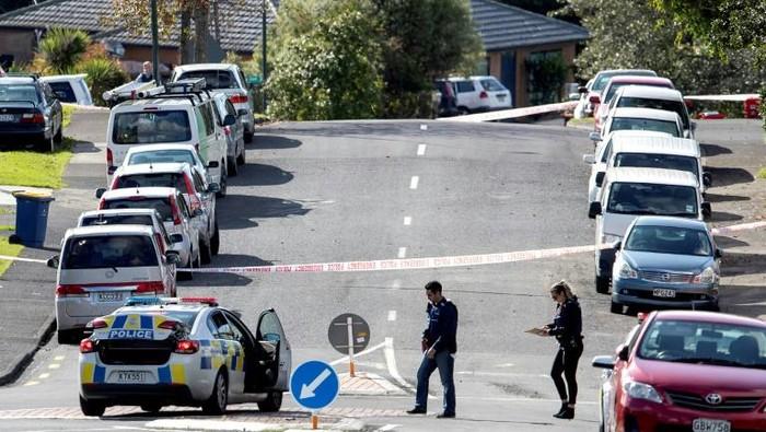 Lokasi penembakan seorang polisi Selandia Baru di Auckland (AFP Photo)