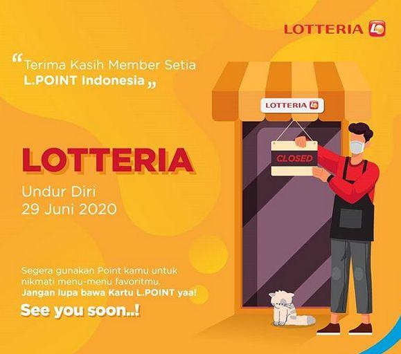 Lotteria Tutup 29 Juni