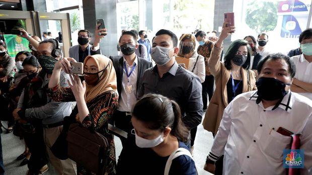 Nasabah Indosurya saat sidang Verifikasi Bilyet di Pengadilan Negeri Jakarta Pusat, Jumat (19/6/2020)  (CNBC Indonesia/ Muhammad Sabki)