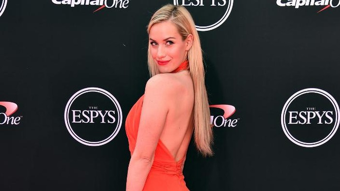 LOS ANGELES, CA - JULY 18: Golfer Paige Spiranac attends The 2018 ESPYS at Microsoft Theater on July 18, 2018 in Los Angeles, California.   Alberto E. Rodriguez/Getty Images/AFP