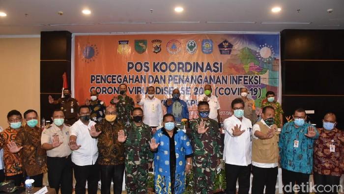 Rapat Koordinasi Satgas Gugus Tugas COVID-19 Provinsi Papua.