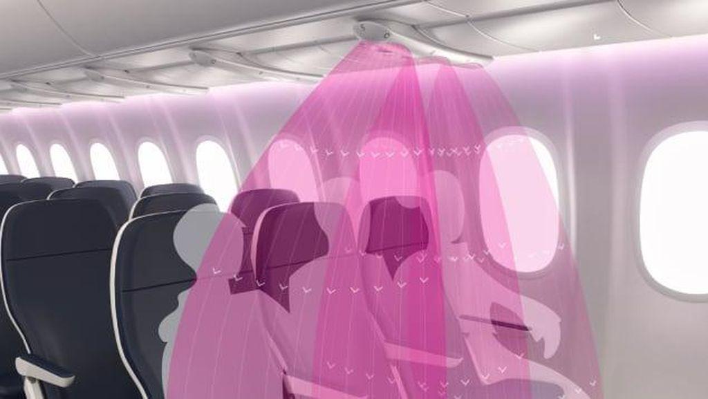 Foto: Perisai Udara, Teknologi Baru Tangkal Corona di Pesawat