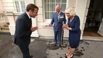 Momen Presiden Prancis Salam Namaste ke Pangeran Charles di Era New Normal