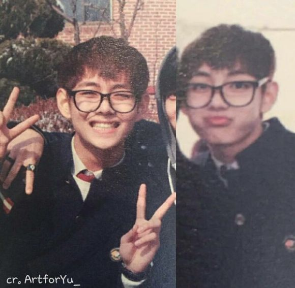 Sebelum Debut, Ini Foto Jadul V BTS Saat SMA