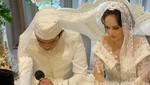 Cantiknya Angelica Simperler Berbusana Pengantin di Hari Pernikahan