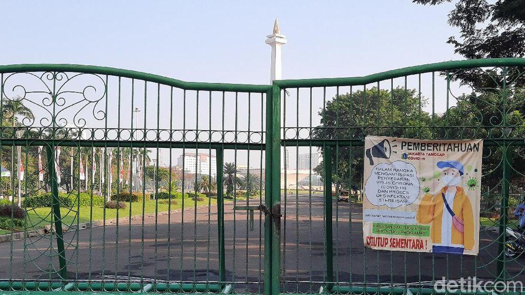 Kawasan Monas Masih Tutup Hari Ini, Pengelola Tunggu Instruksi Gubernur