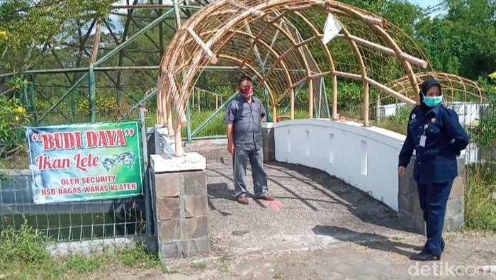 Kolam lele di RSD Bagas Waras, Klaten