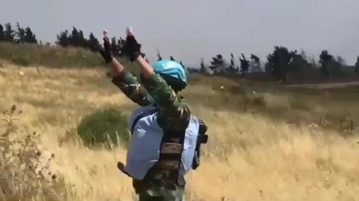 Viral prajurit TNI yang tergabung pasukan perdamaian PBB menghalau tank Israel yang mendekati wilayah Lebanon