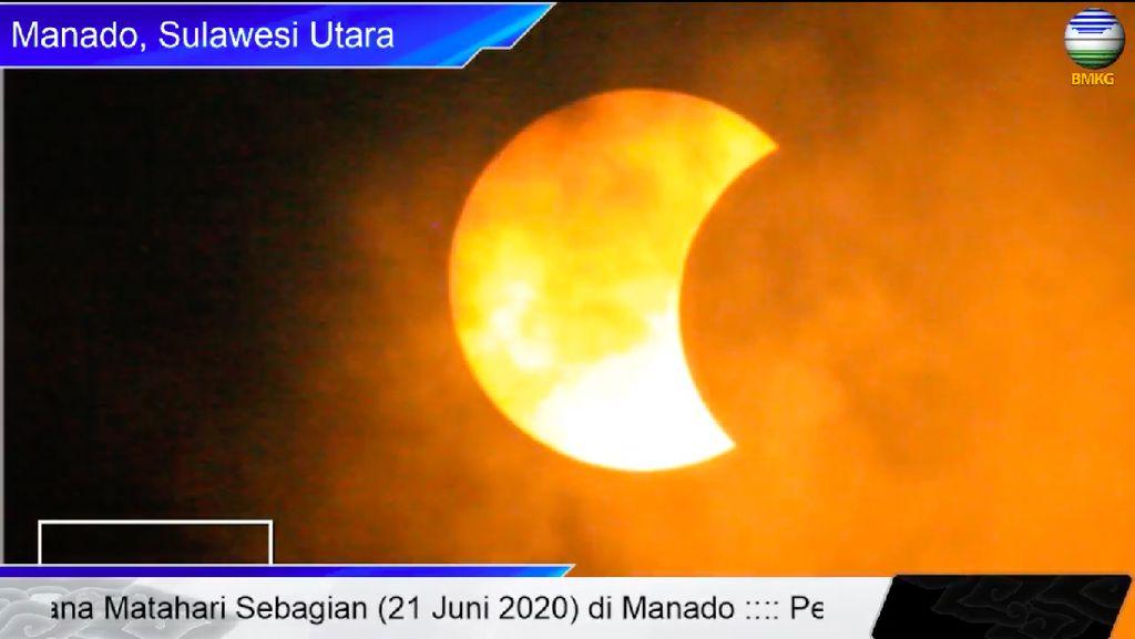 Gerhana di Manado, Matahari Tertutup Nyaris Separuhnya