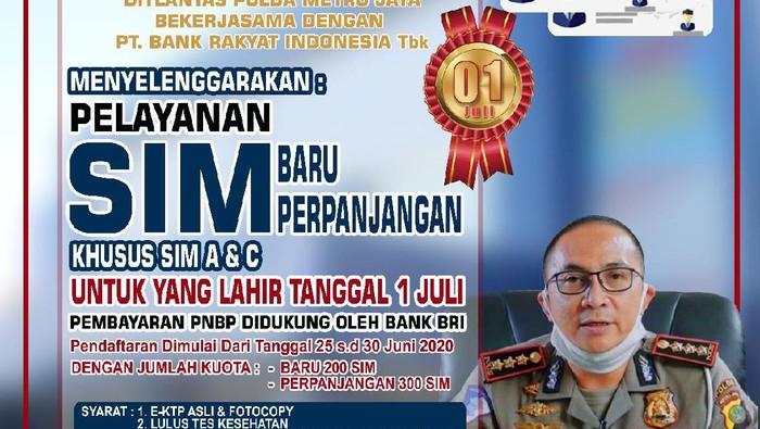 Layanan SIM Spesial untuk Warga DKI Jakarta yang Lahir 1 Juli