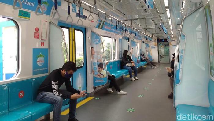 MRT Jakarta sepi di masa pandemi/Herdi Alif Alhikam- detikcom