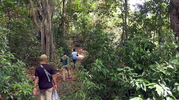 Perjalanan dengan roda 2 maupun roda 4, ditempuh selama lebih kurang tiga puluh menit dari Polewali. Kemudian dilanjutkan dengan berjalan kaki membelah bukit sejauh lebih kurang 200 meter. (Abdy Febriady/detikcom)