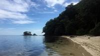 Di Polewali Mandar, Sulawesi Barat ada satu pantai dengan pasir putih yang amat menawan. Pantai Tappina namanya. (Abdy Febriady/detikcom)