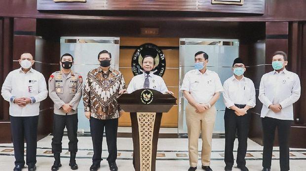 Menko Polhukam Mahfud Md bersama Kapolri hingga Ketua KPK