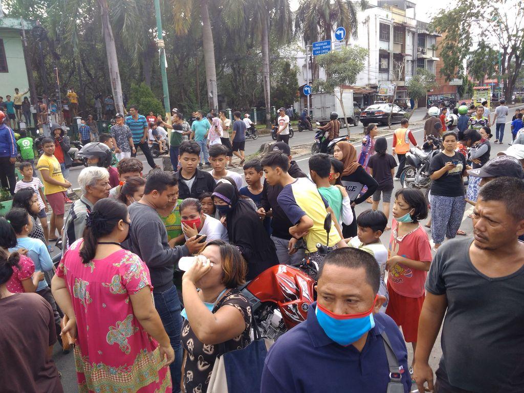 Suasana di dekat lokasi pembunuhan 2 bocah di Medan (Datuk Haris-detikcom)