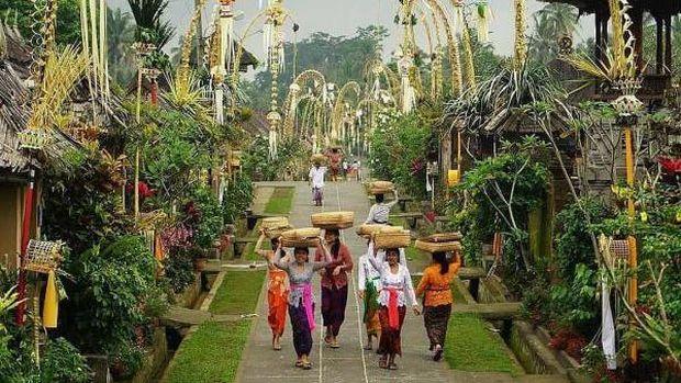 Desa adat di Bali.