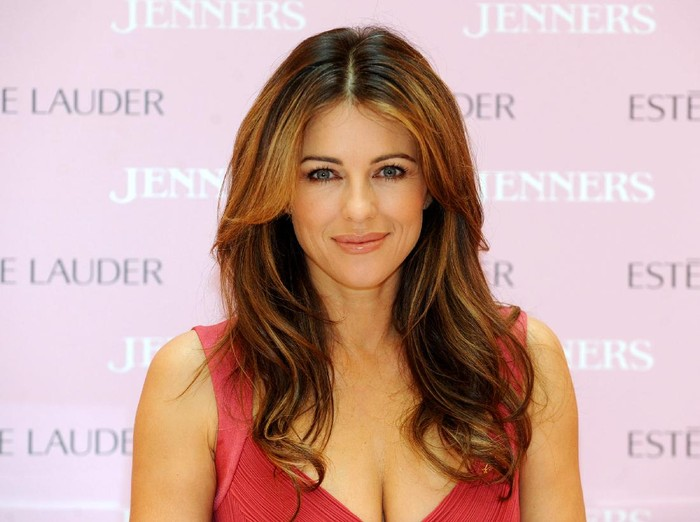 EDINBURGH, UNITED KINGDOM - OCTOBER 04: Liz Hurley makes a personal appearance to raise awareness for Breast Cancer Awareness Month at Jenners Edinburgh on October 4, 2011 in Edinburgh, Scotland. (Photo by Ian Jacobs/Getty Images)