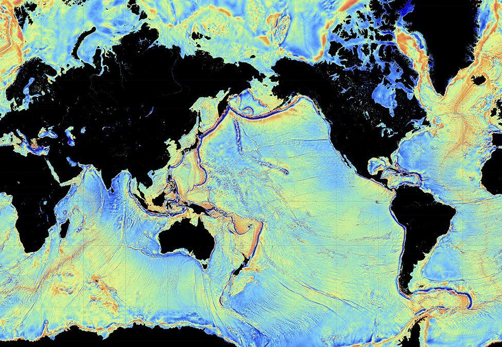 Pemetaan satelit dasar samudera