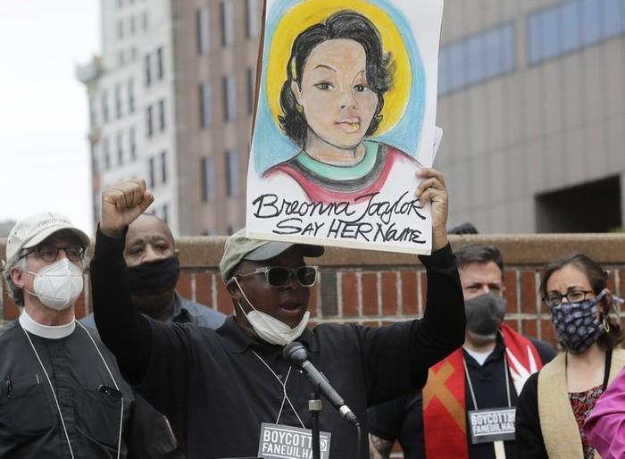 Demonstrasi keadilan atas kematian Breonna Taylor (AP Photo)