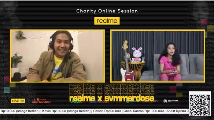 Iqbaal Ramadhan di realme x Svmmerdose Charity Online Session