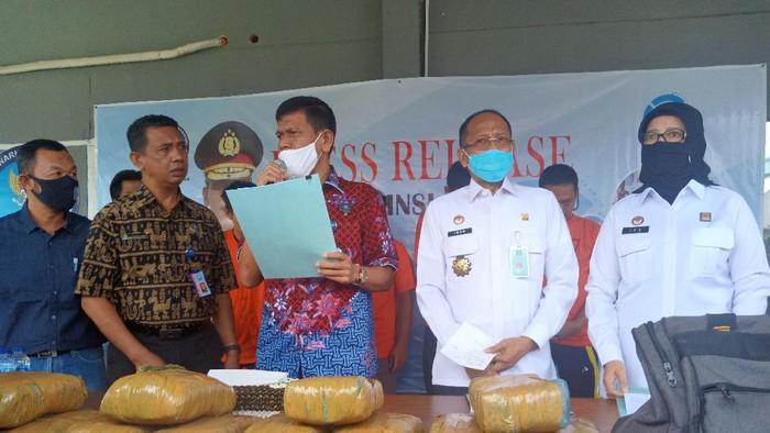 Koferensi pers BNN Bengkulu (Hery-detikcom)
