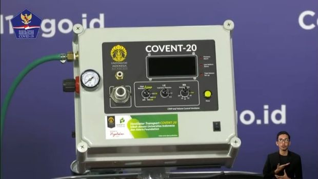 Mobile ventilator buatan UI bernama CONVENT-20 diserahkan kepada Gugus Tugas Percepatan Penanganan COVID-19 (YouTube BNPB)