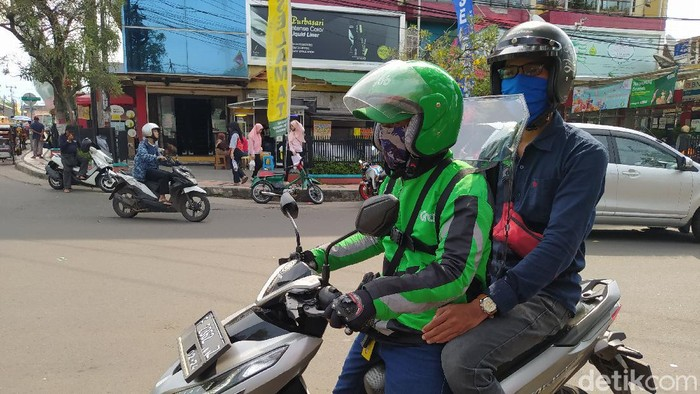 Pengemudi ojol di Cianjur