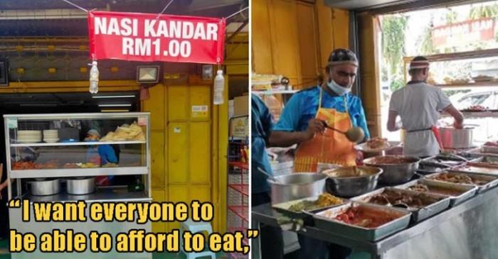 Penjual makanan dengan harga murah