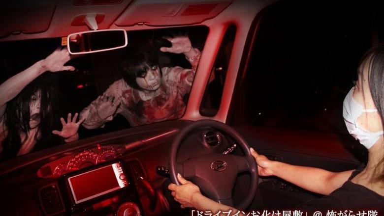 Mobil hantu drive-thru