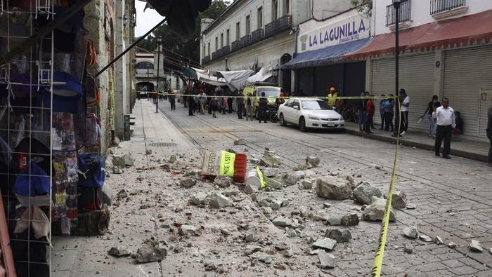 Situasi pasca-gampa di Meksiko Selatan