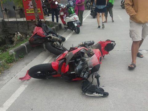 TKP Kecelakaan Influencer Rusia di Bali